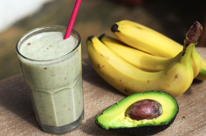 Coconut and avocado smoothie