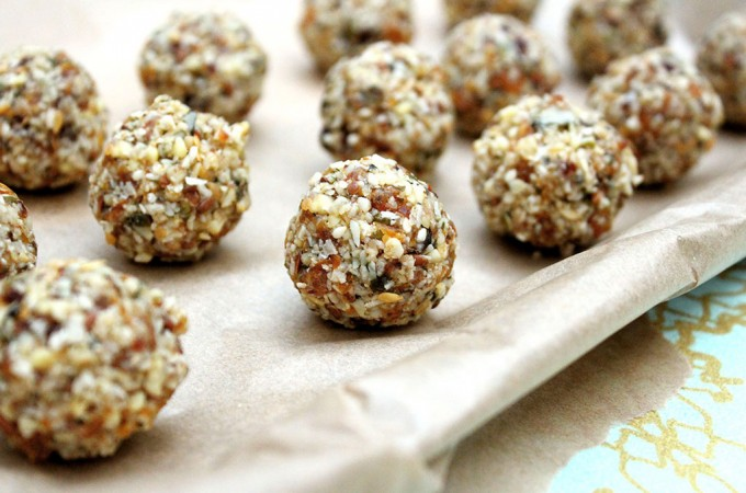 Summer snack energy balls