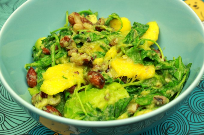 Mango, avocado & nut summer salad